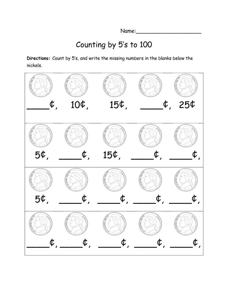 Printable Count By 5s Worksheet