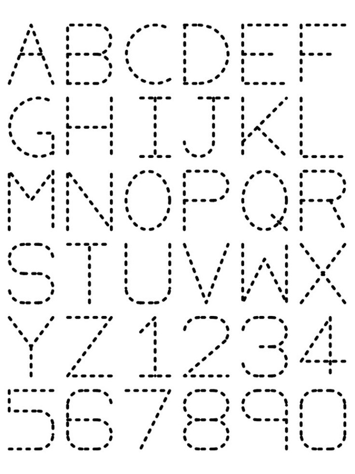 Printable Traceable Alphabet Worksheets A-Z