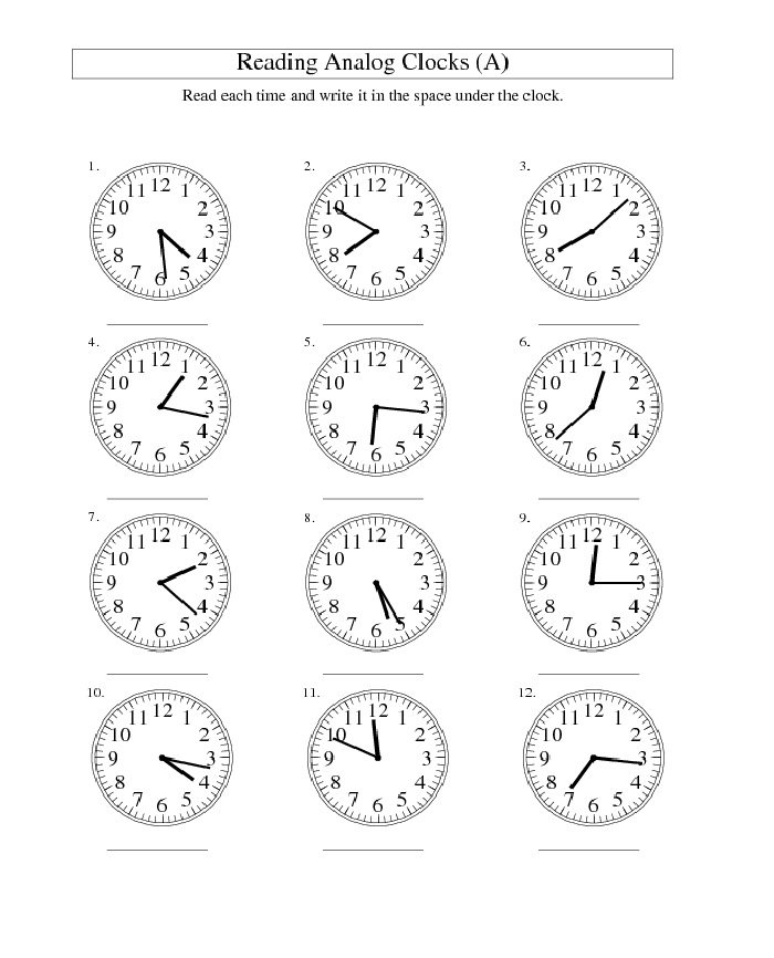 Reading Time Blank Clock Face Worksheet