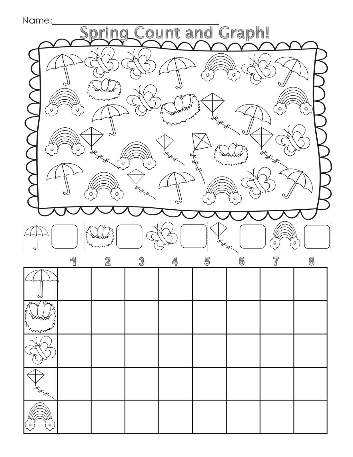 Spring Tally Chart Worksheets