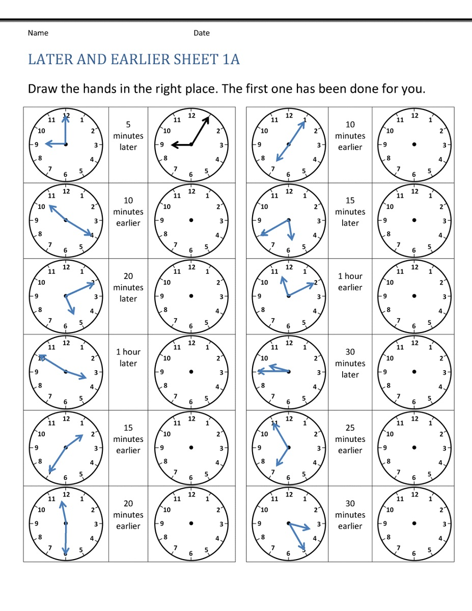 Telling Elapsed Time Worksheets Free