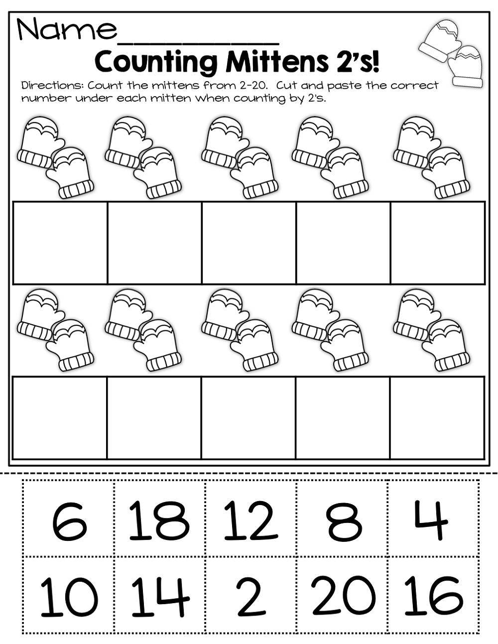 Winter Count By 2s Worksheet
