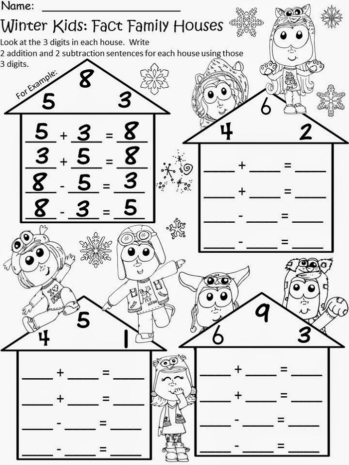 Winter Fact Family Worksheets For First Grade