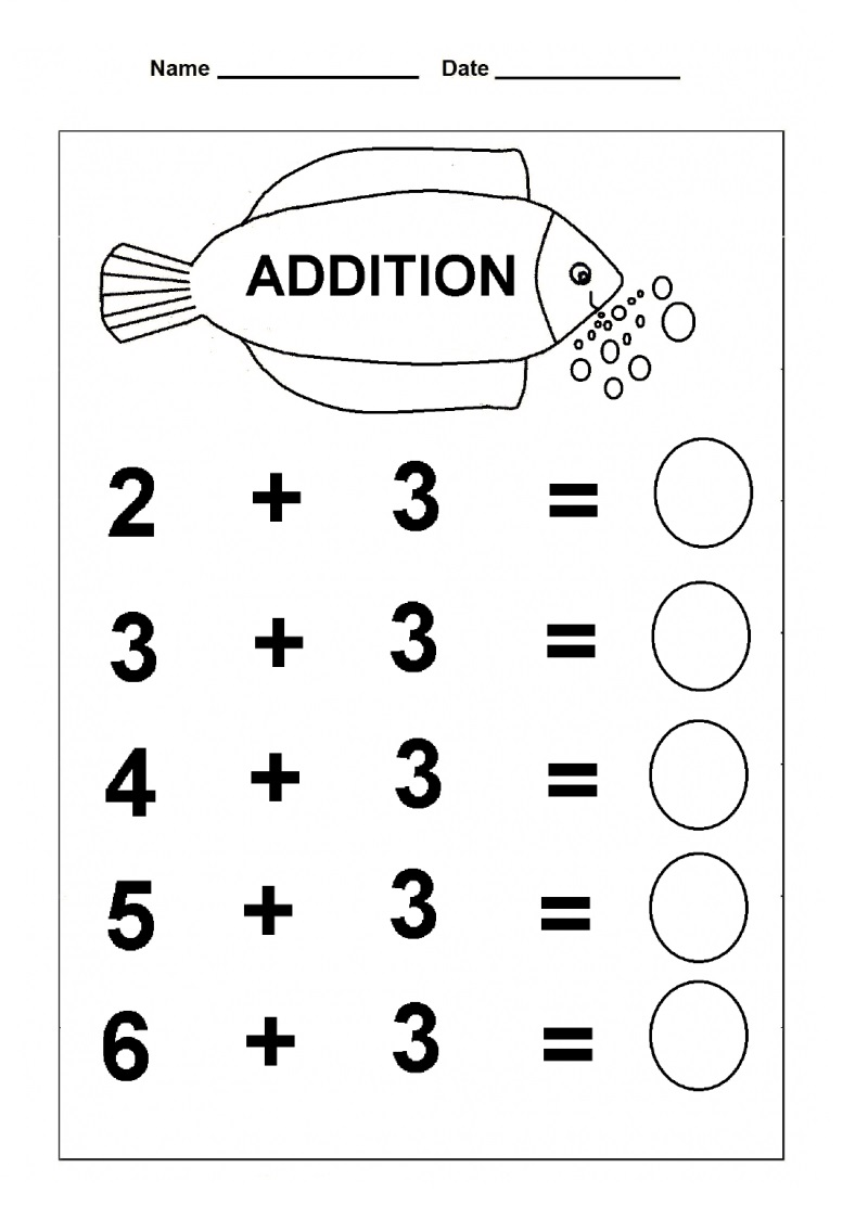 Addition Free Fun Math Worksheets