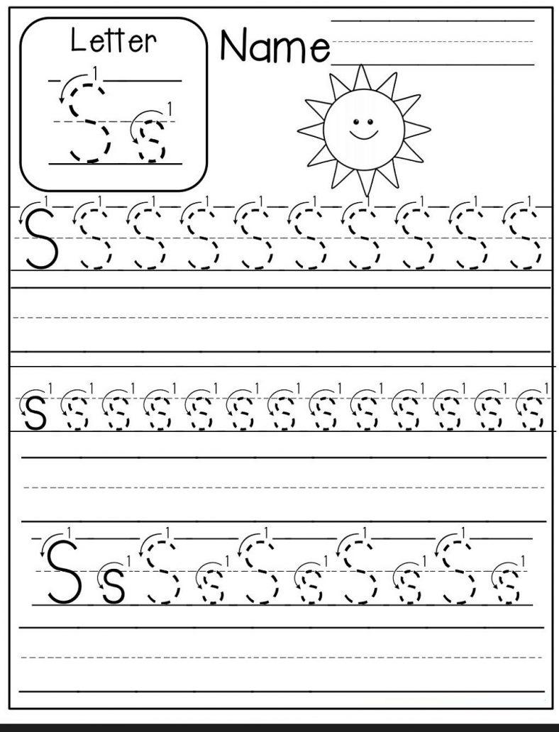 Alphabet Trace Letter S