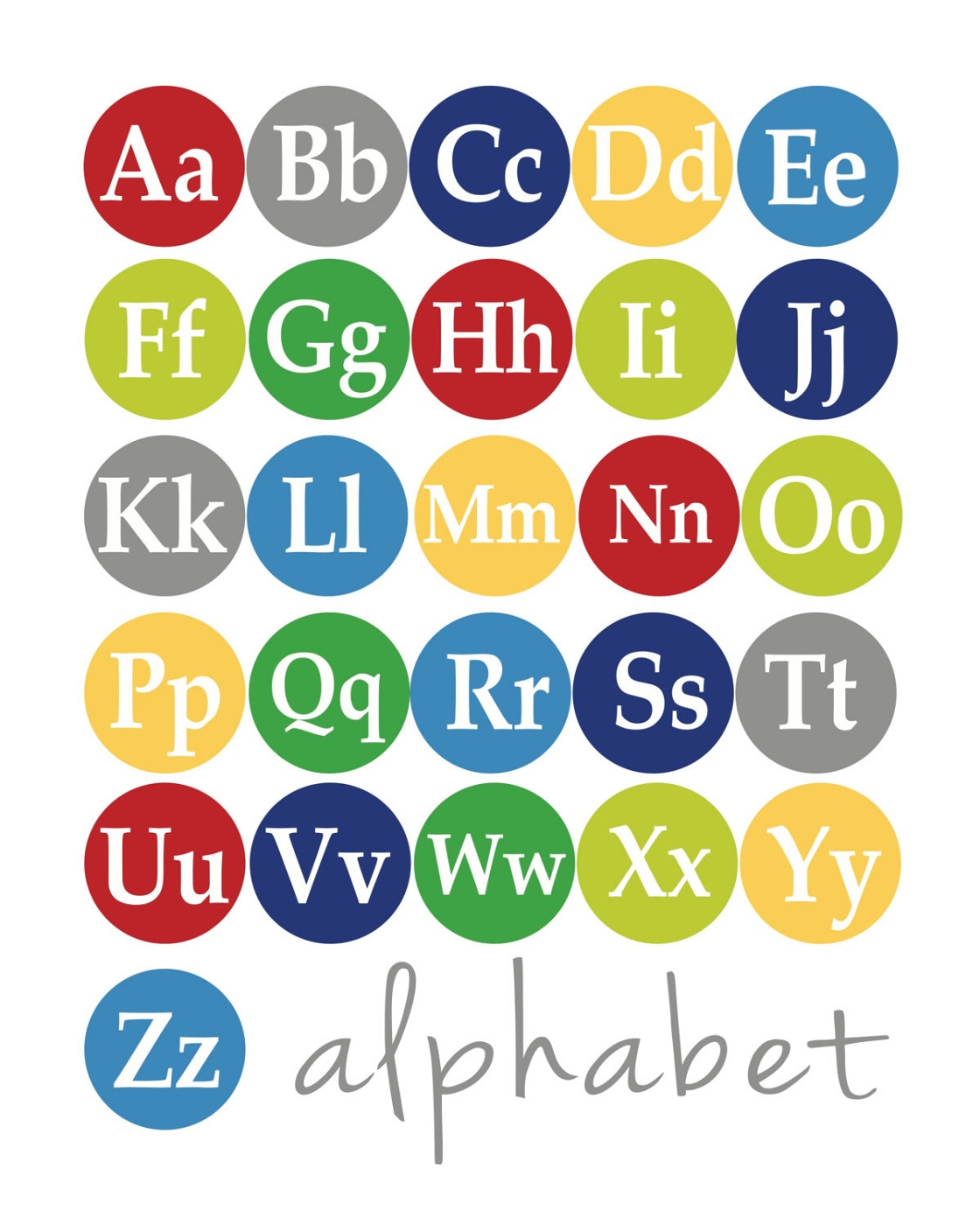 Capital And Lowercase Letters Poster
