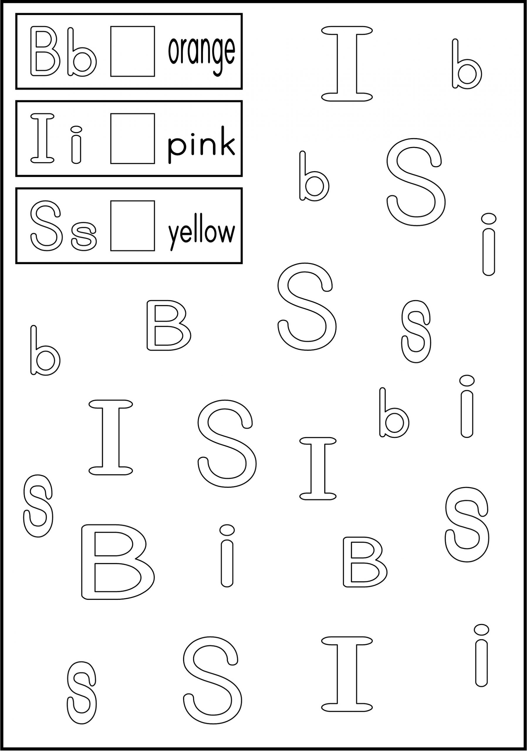 Coloring Free Abc Worksheets For Pre-K