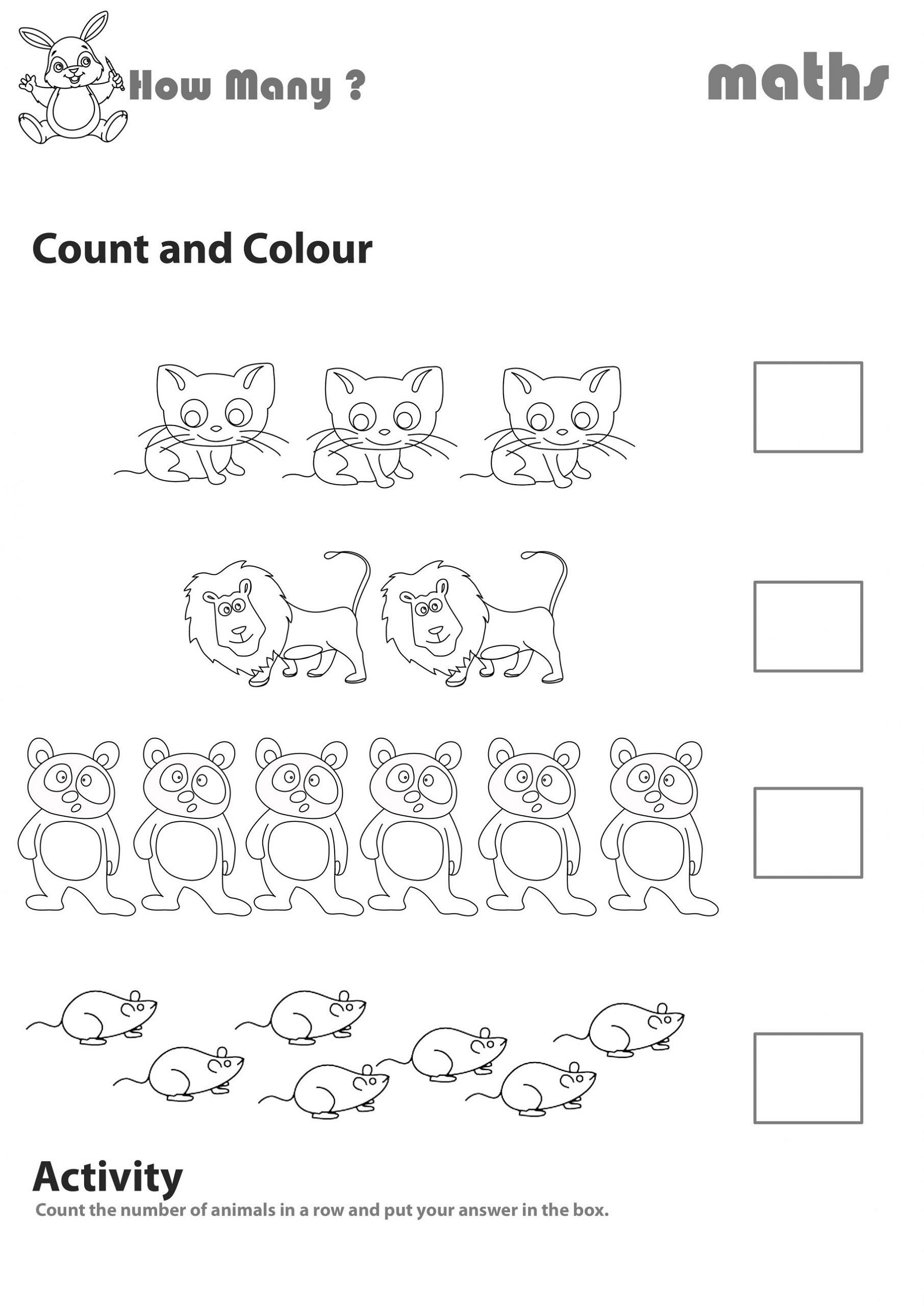 Count Tally Mark Worksheets