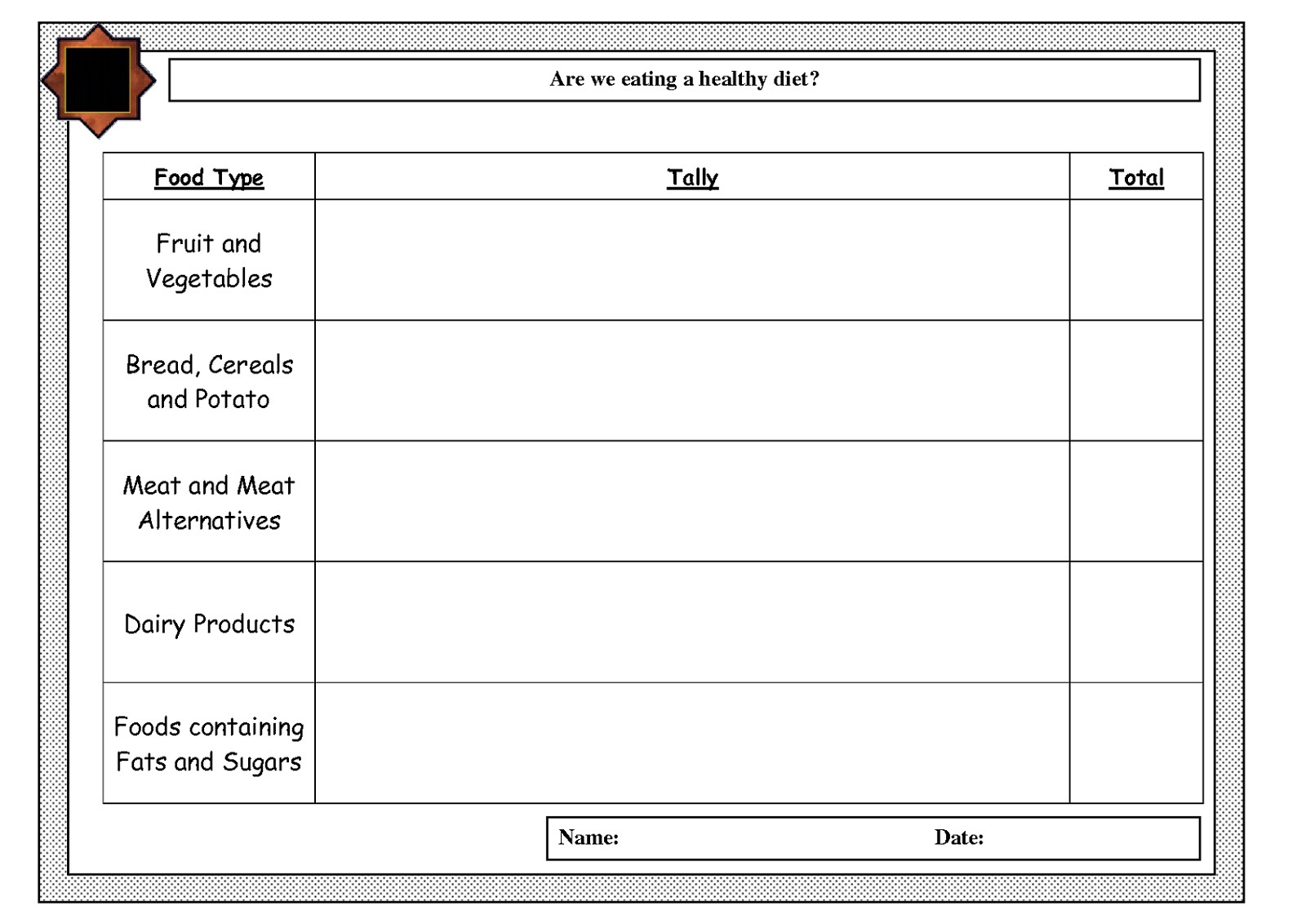 Free Tally Mark Worksheets