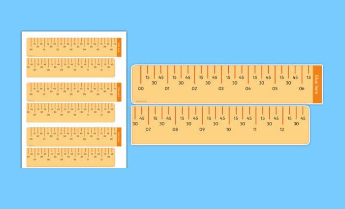 Math Elapsed Time Ruler