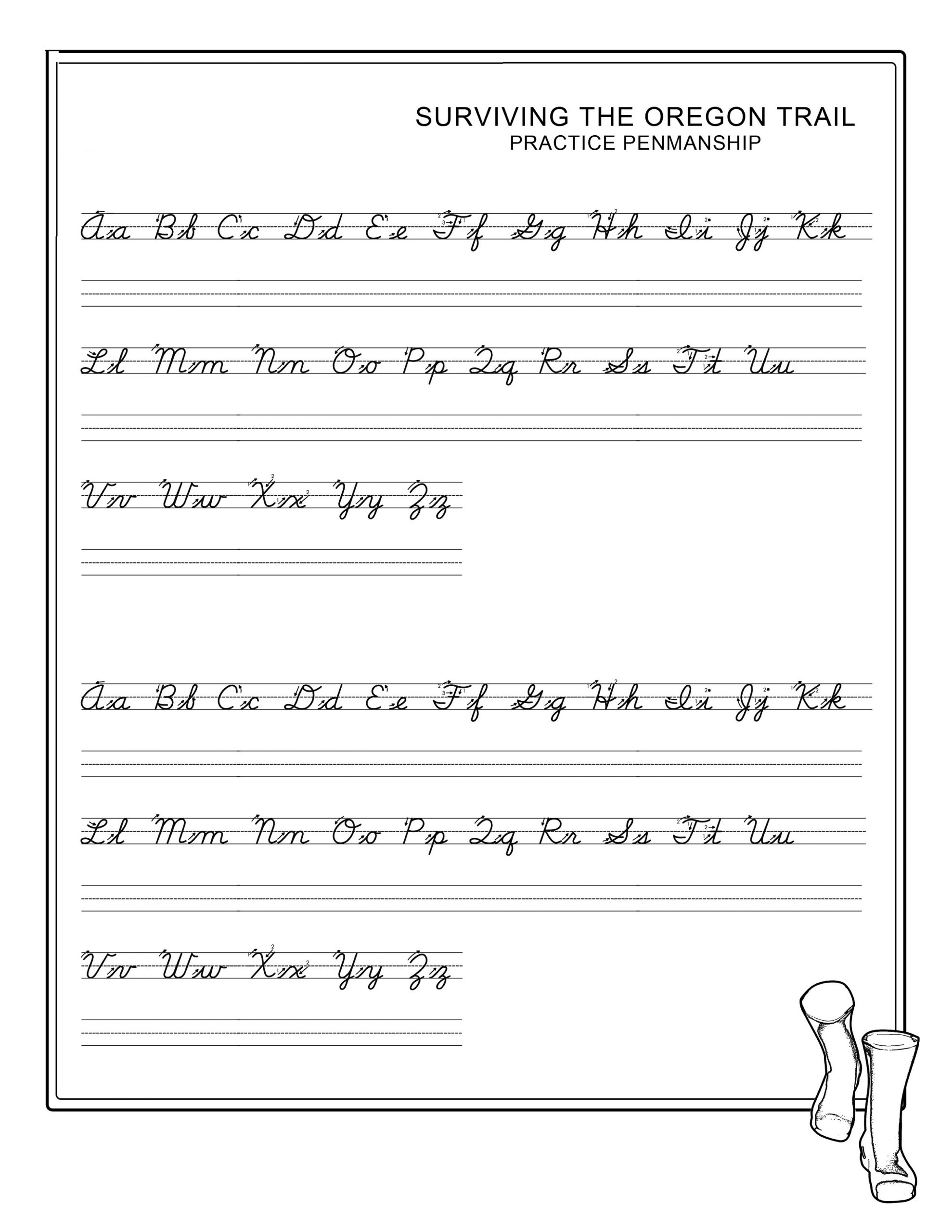 Penmanship Worksheets Printable