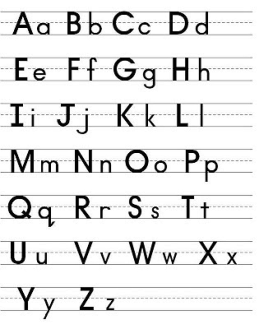 Printable Capital And Lowercase Letters