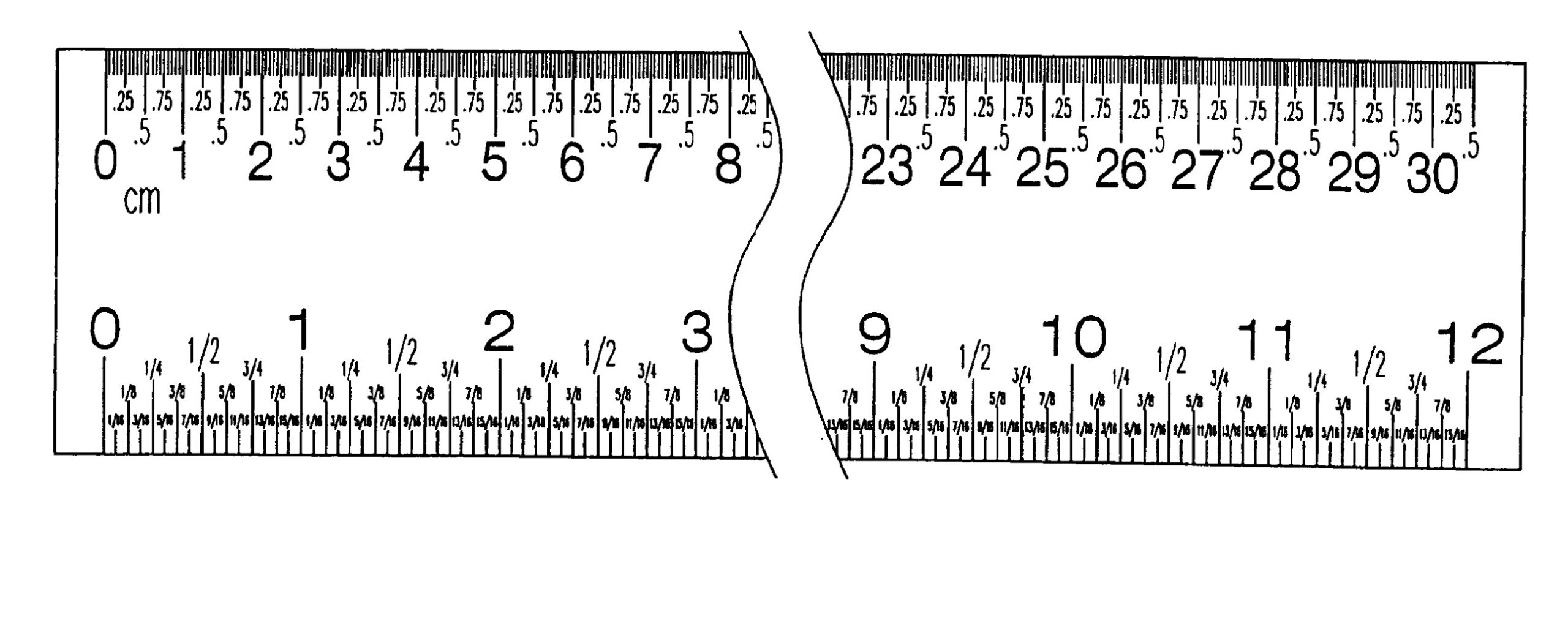 Printable Elapsed Time Ruler