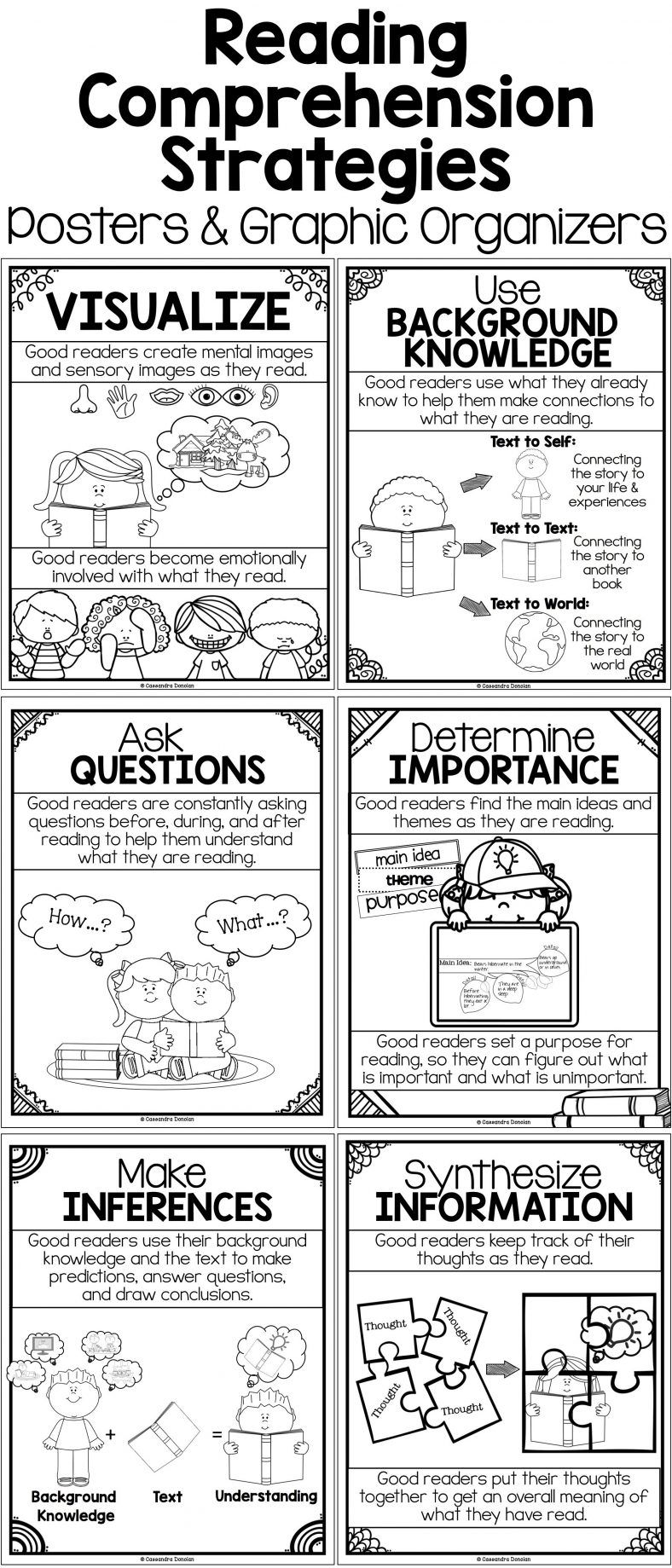 Reading Strategies For Kids Graphic Organizer