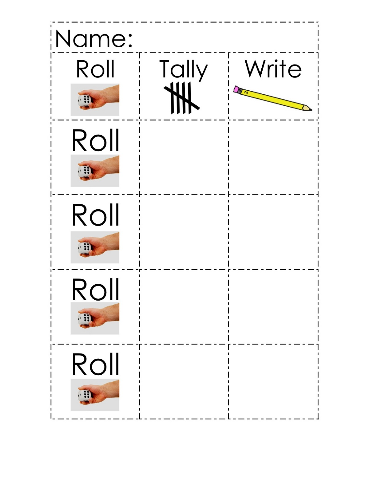 Tally Mark Worksheets for Kindergarten