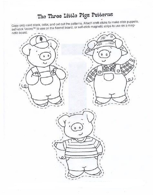 The Three Little Pigs Worksheets Cut Out