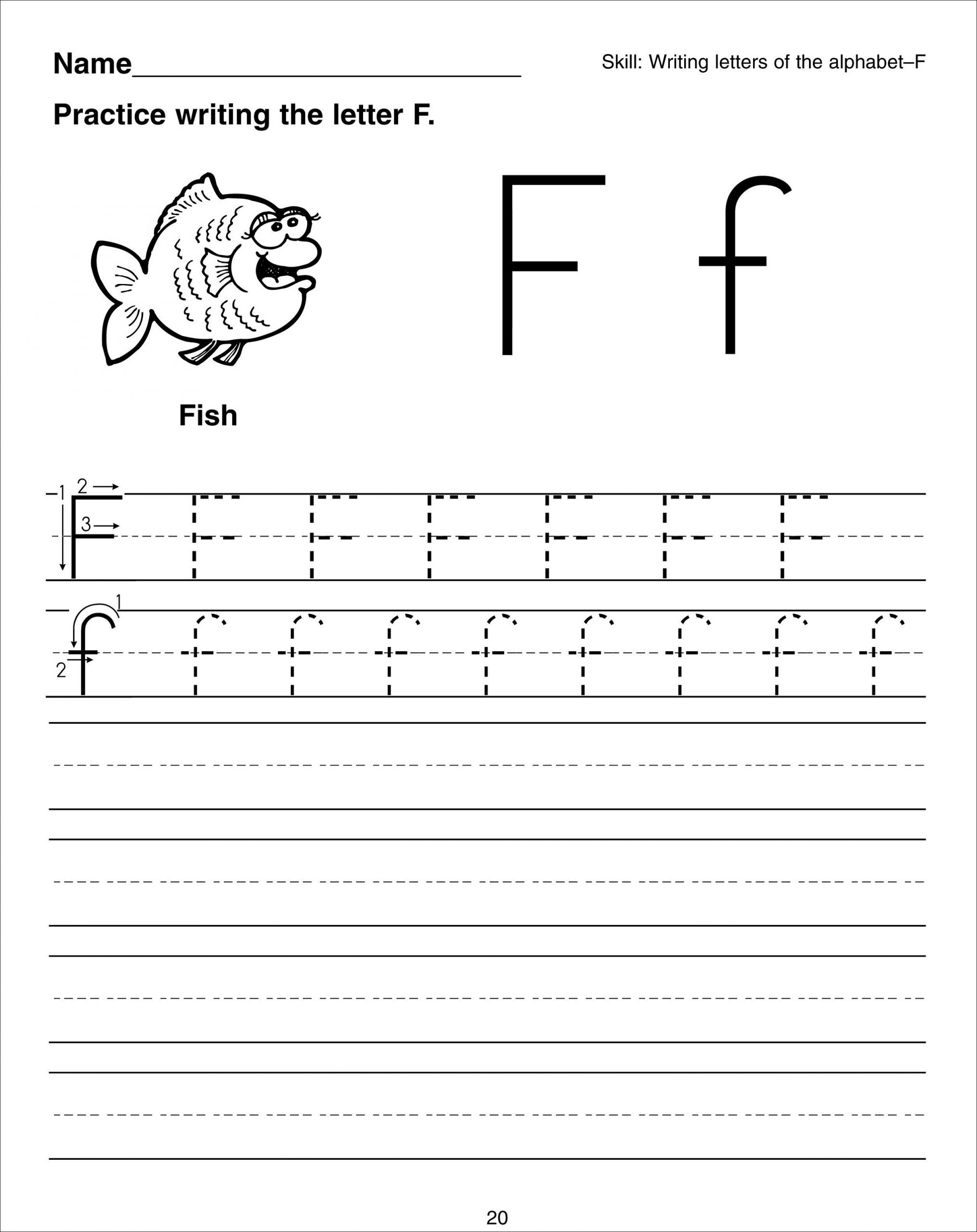 Writing Letter F Worksheet