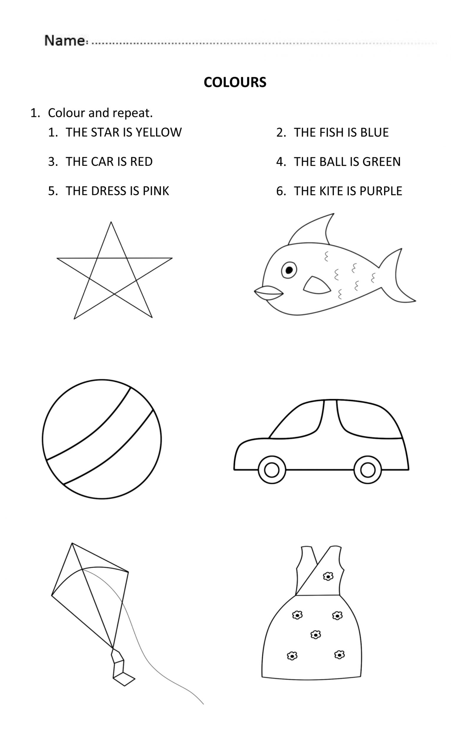 Coloring Worksheets For 5 Year Olds