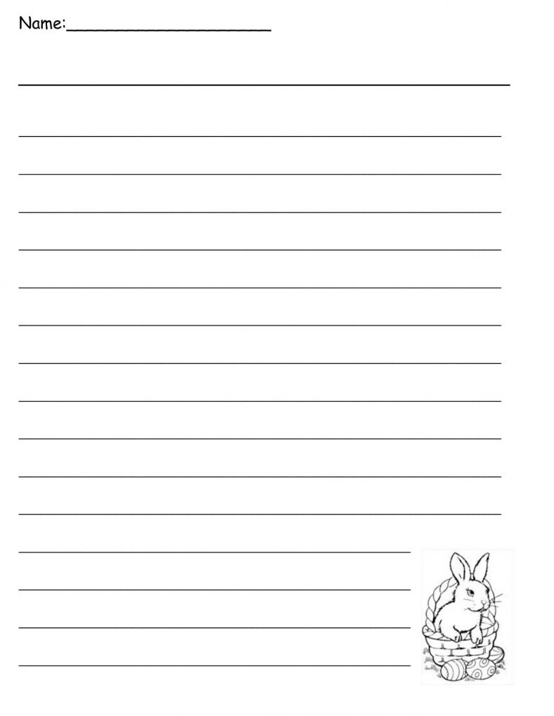 Easter Lined Paper For Kids