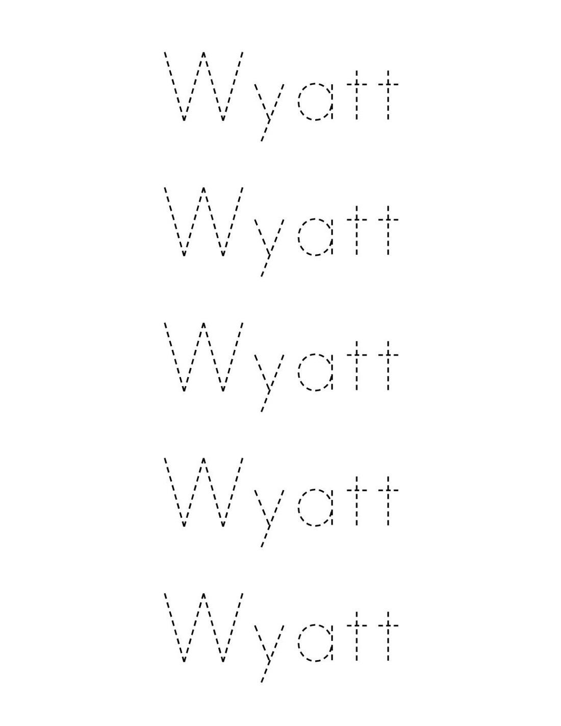 Easy Traceable Names Worksheets