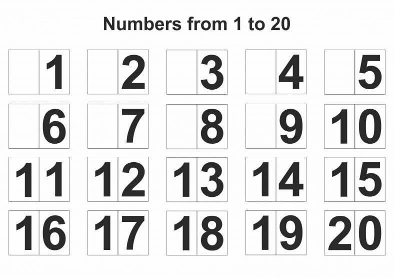 Free 1-20 Number Chart