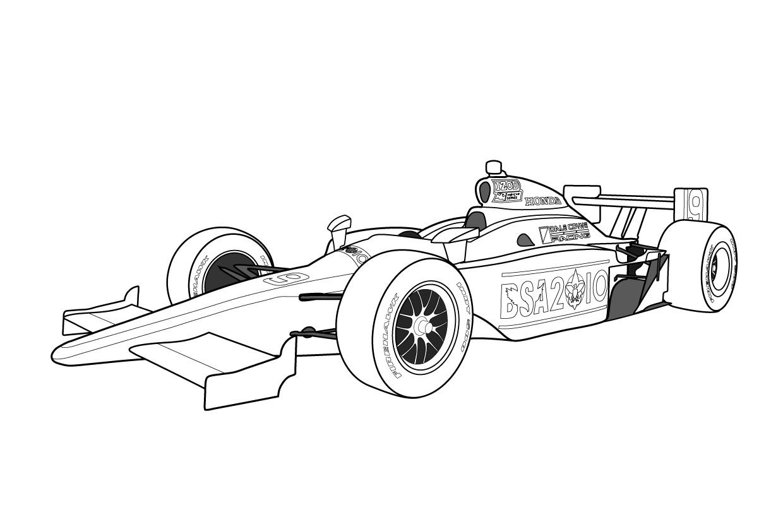Free Race Car Color Pages
