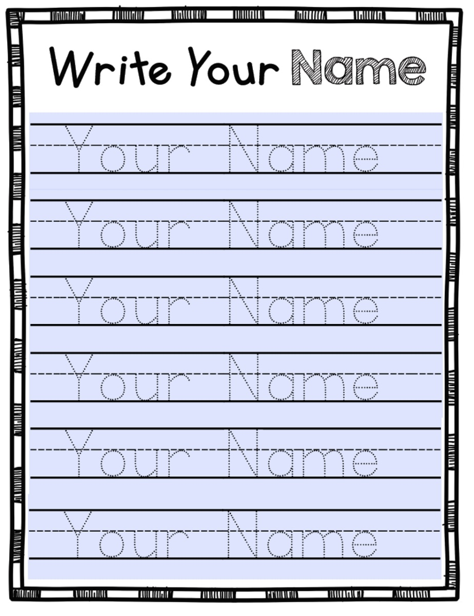 Free Traceable Names Worksheets