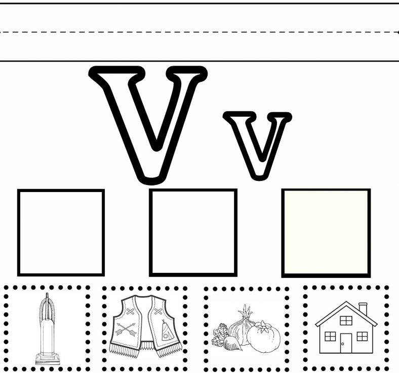 Letter V Worksheets for Preschool