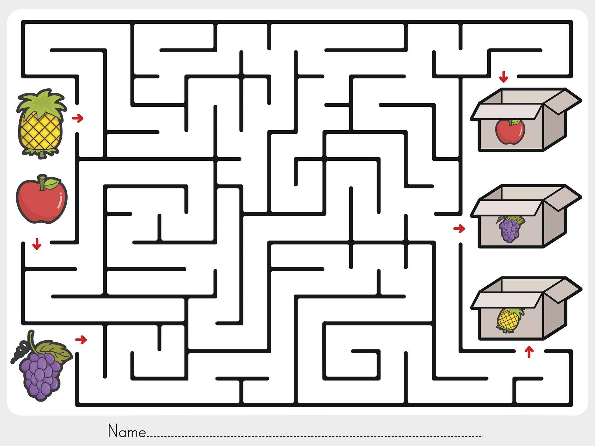 Maze Worksheets For 4 Year Olds