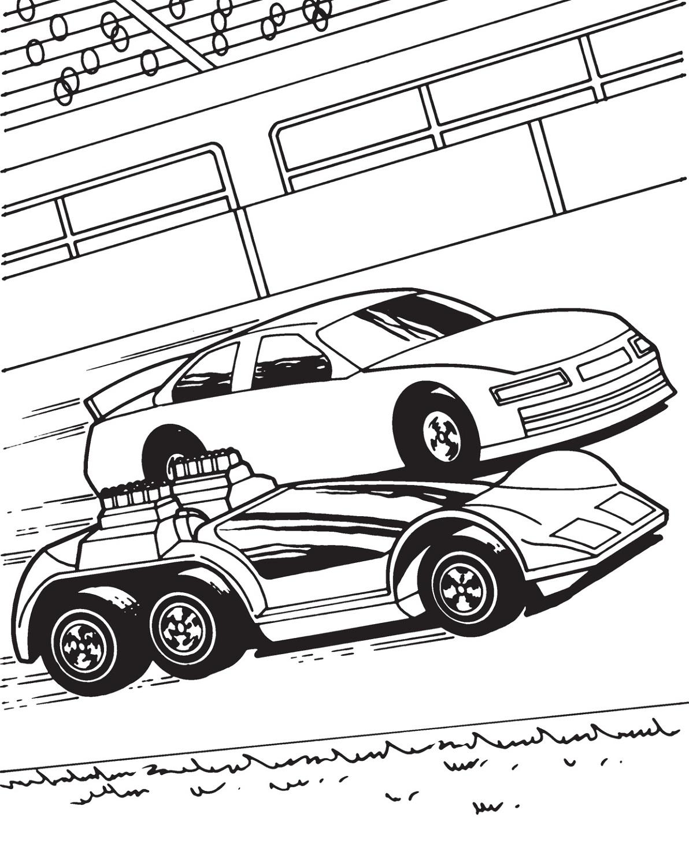 Printable Race Car Color Pages