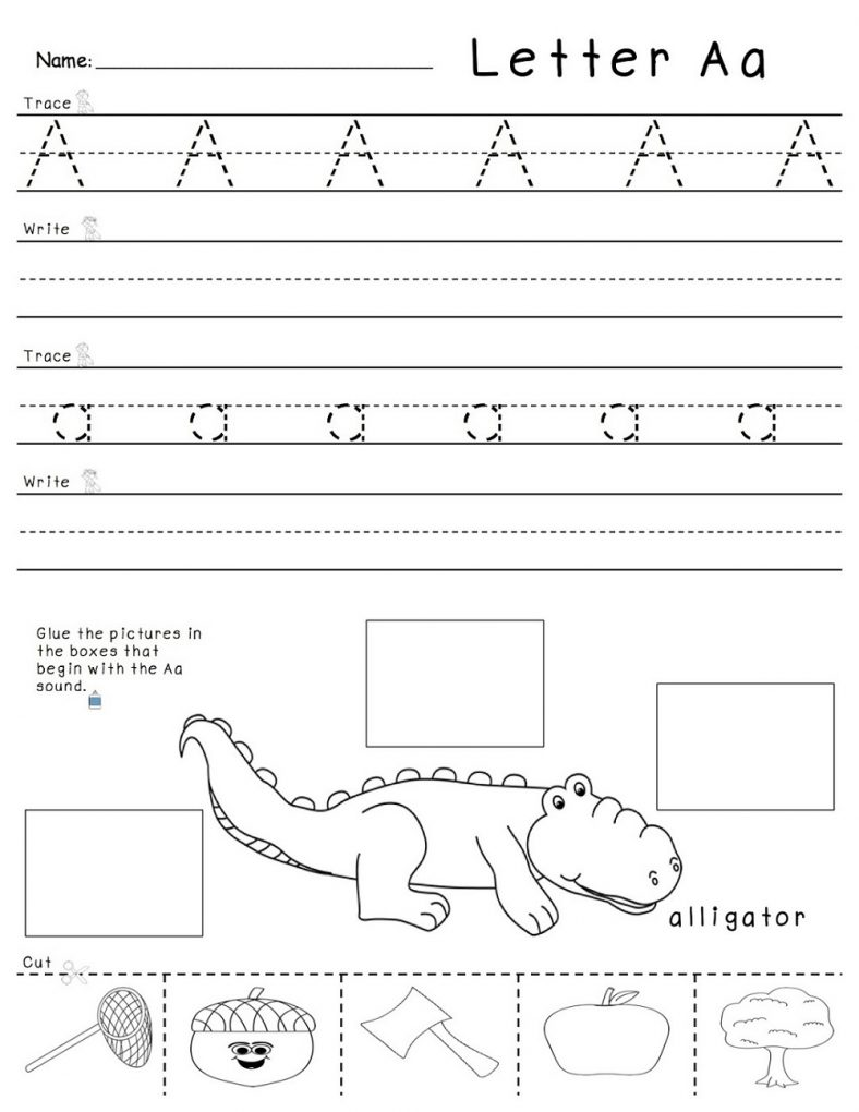 Printable Trace The Letter A
