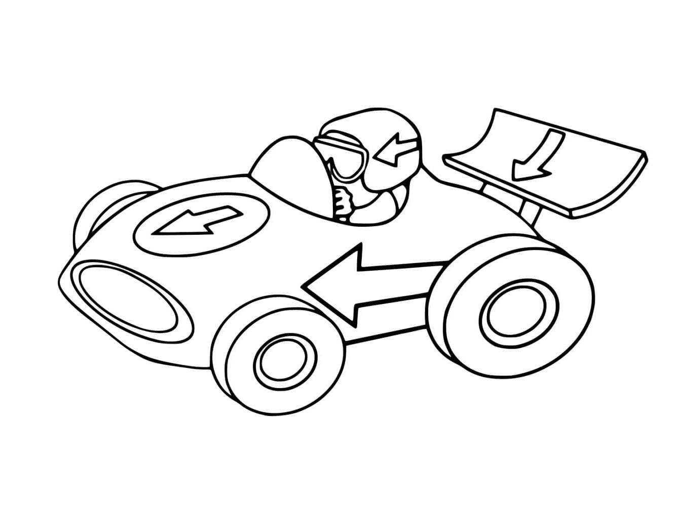Race Car Color Pages for Kids