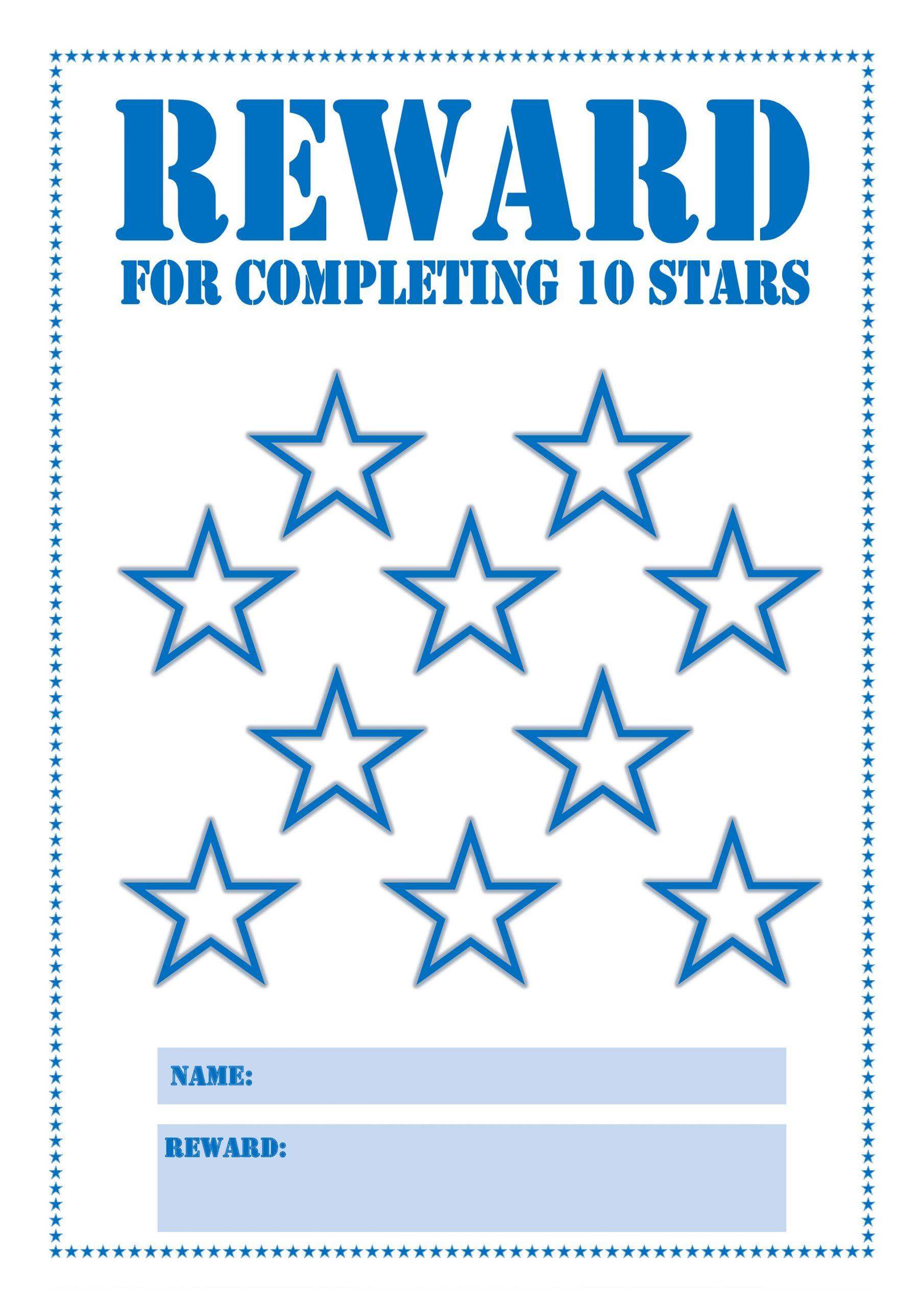 Reward Chart Printable for Children