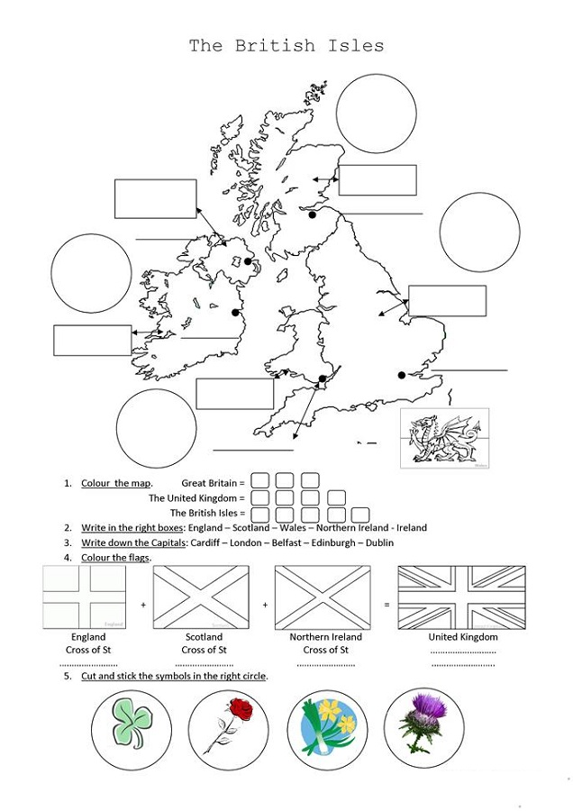 The British Isles Printable Activity Sheets