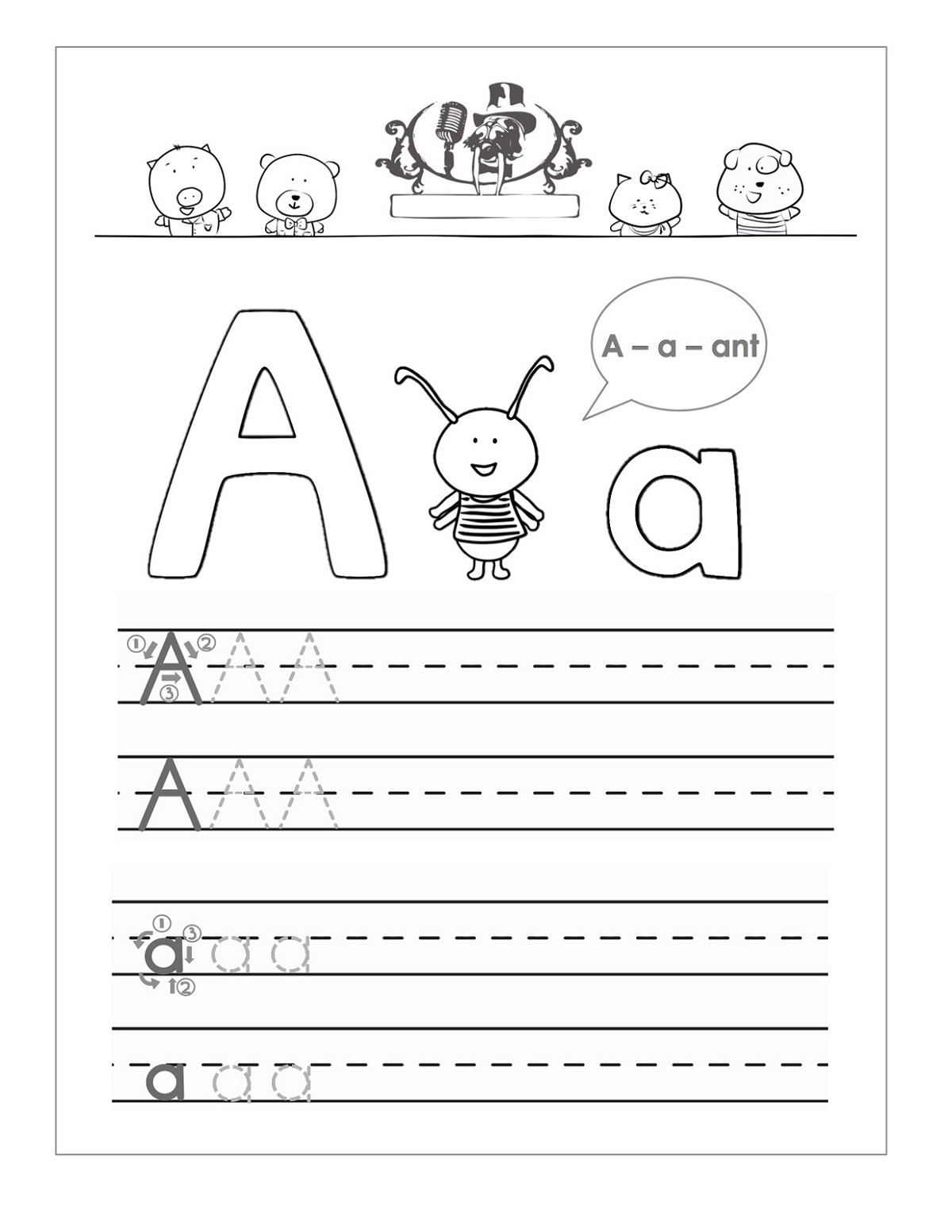 Trace The Letter A Worksheet