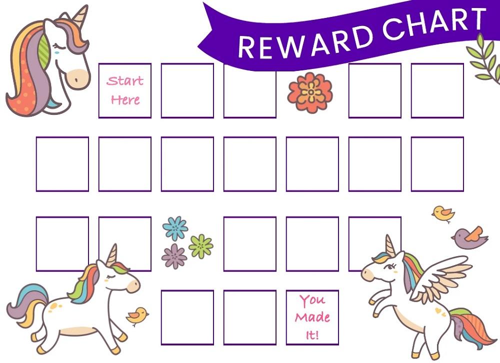 Unicorn Reward Chart Printable