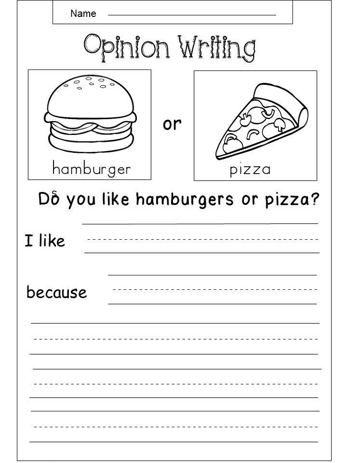 Writing Printable Activity Sheets