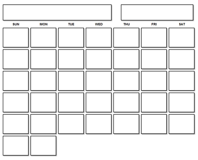 Blank Calendar Pages 2021 Monthly