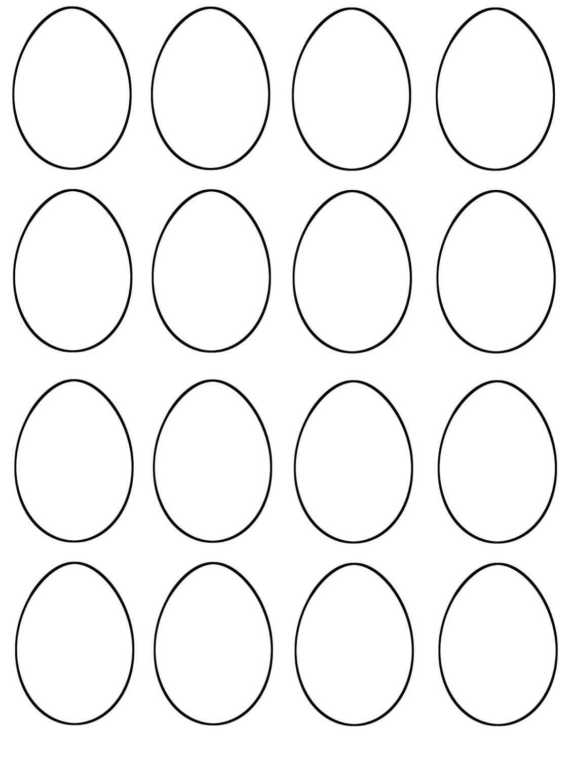 Color Blank Easter Egg Template