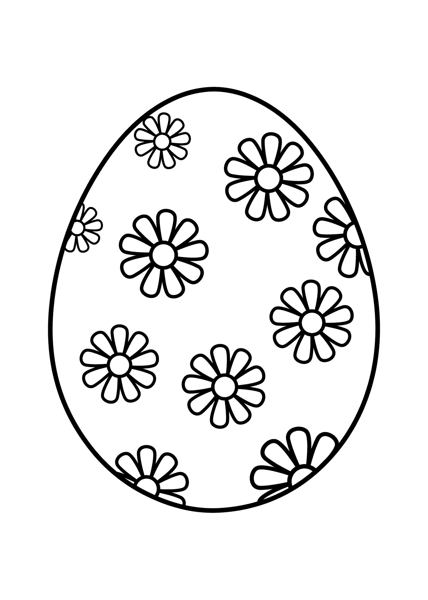 Drawing Blank Easter Egg Template