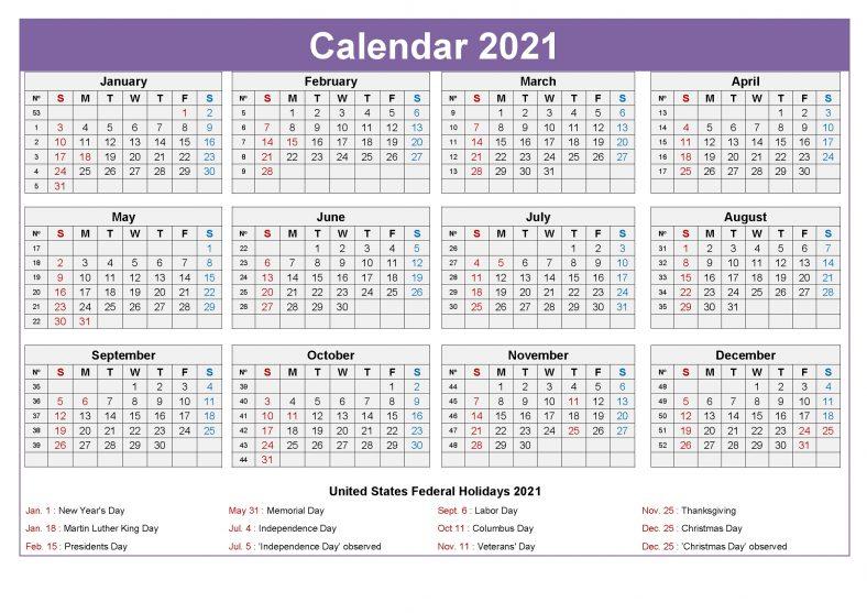 Editable Free Printable Calendars 2021