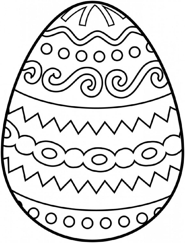 Free Blank Easter Egg Template