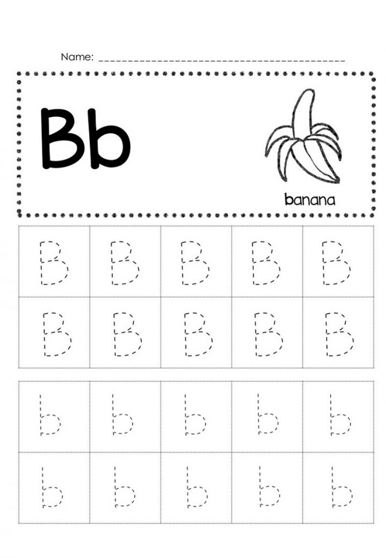 Free Trace Letter B