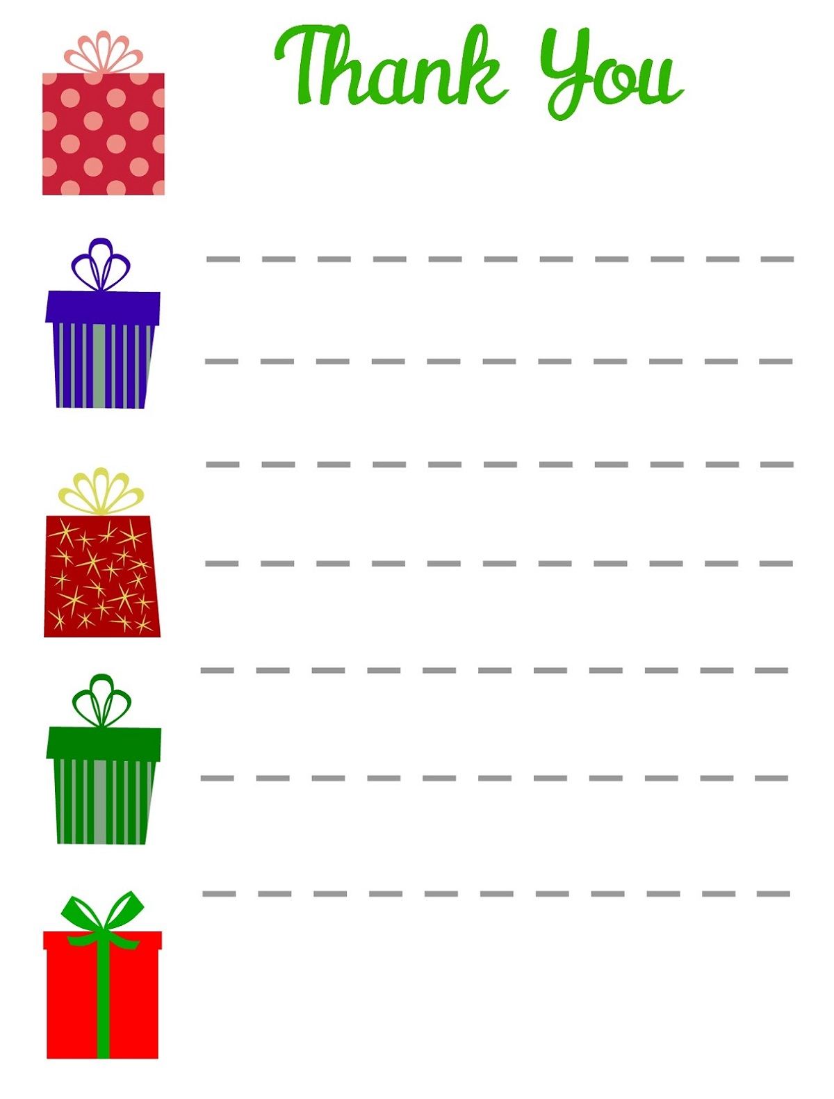 Gift Thank You Note Templates