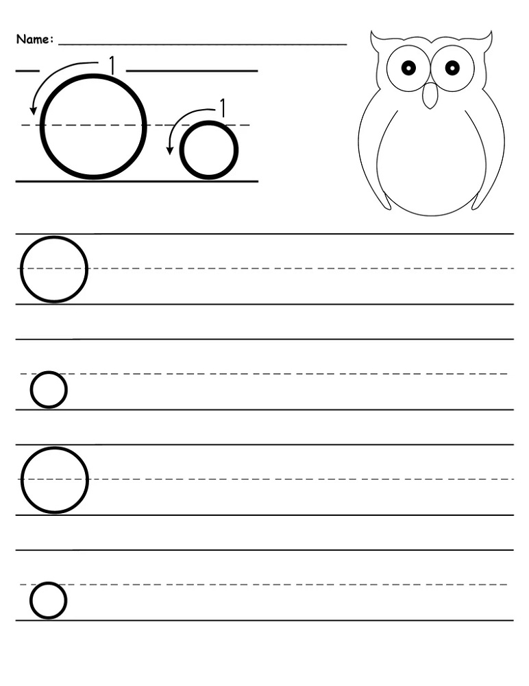 Handwriting Letter O Worksheets