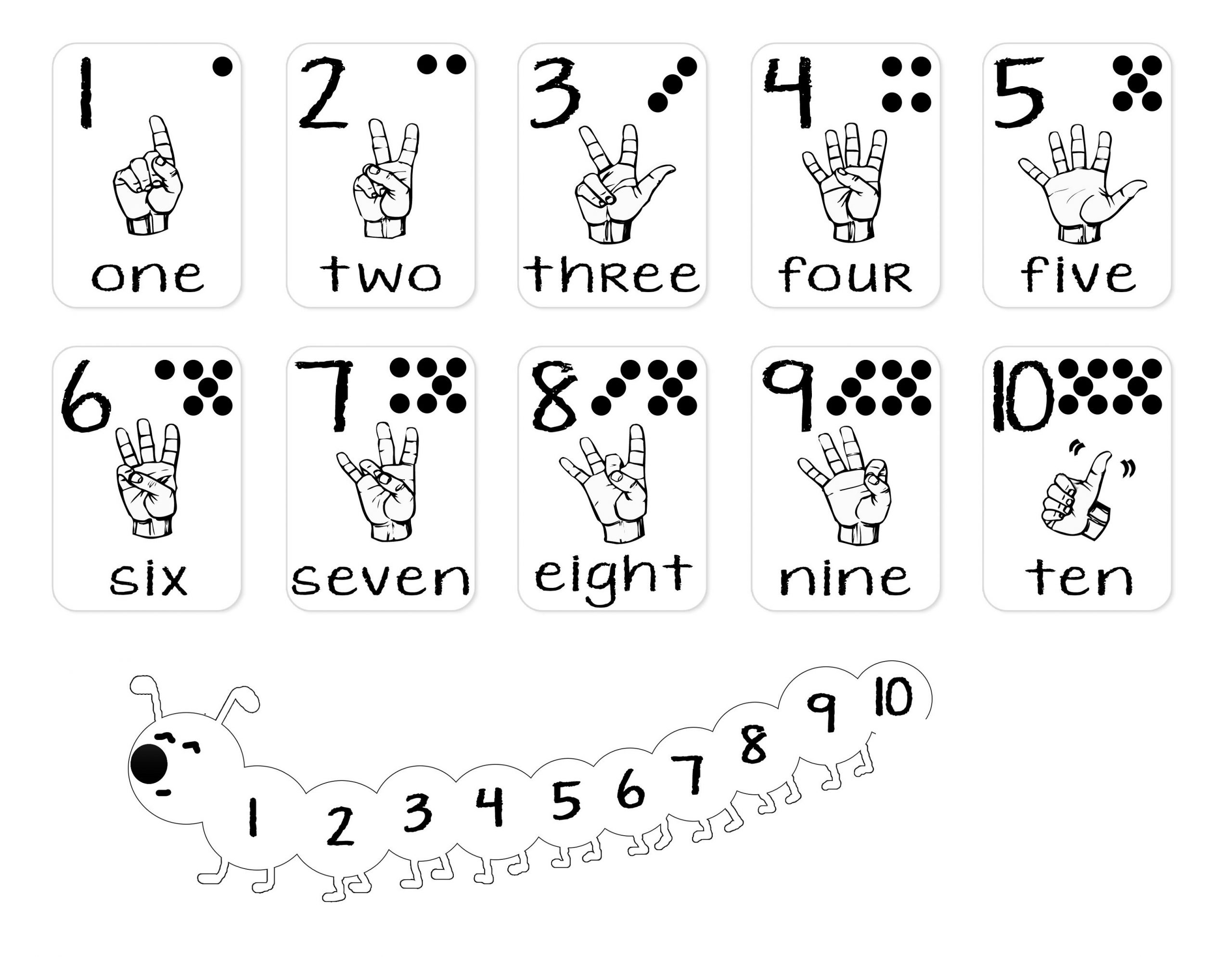 Number Sign Language Chart