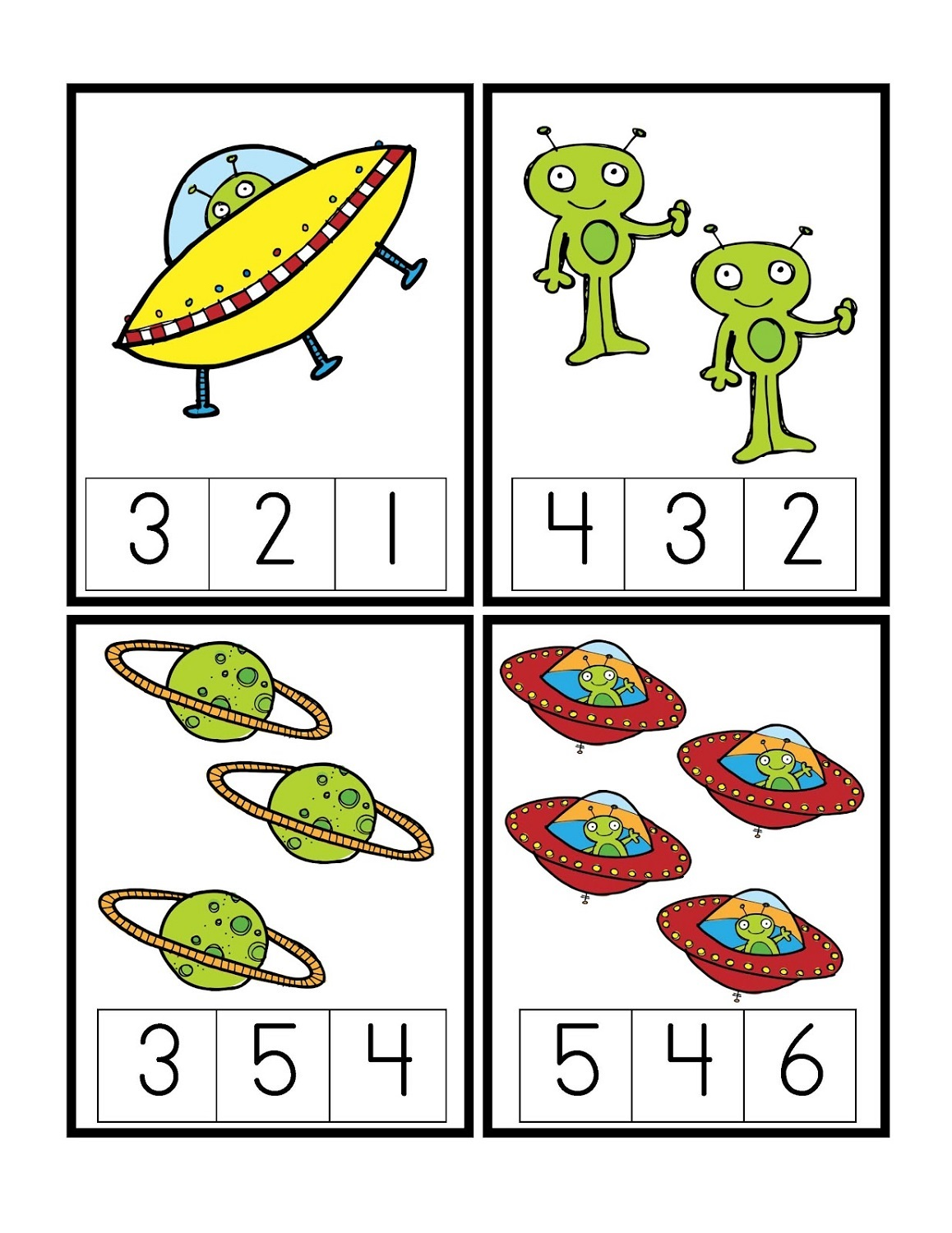 Outer Space Worksheets For Kids Colored
