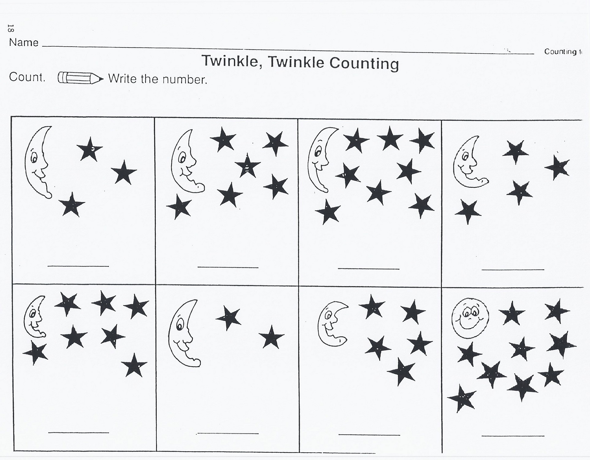 Outer Space Worksheets For Kids Moon and Stars