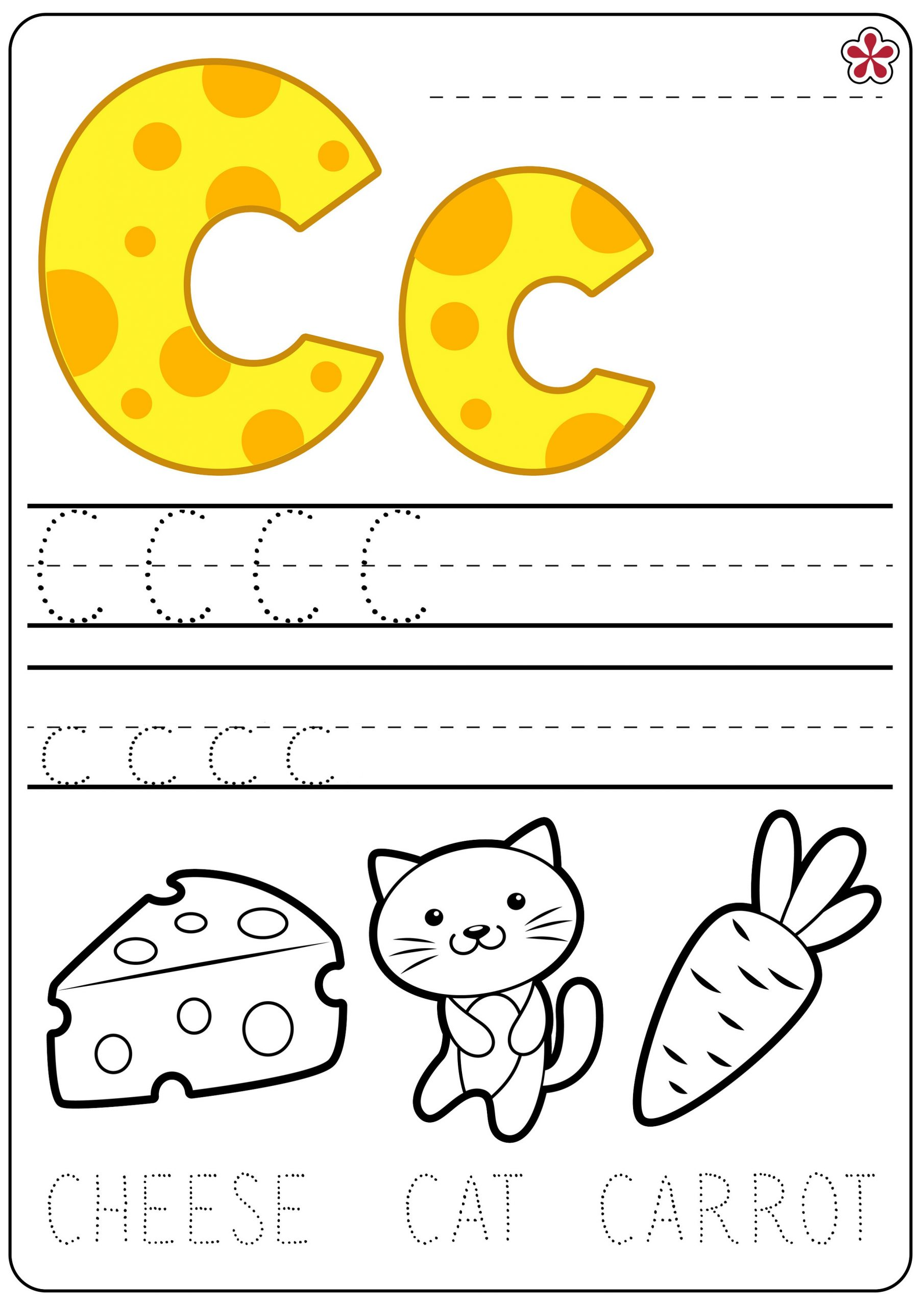 Printable Trace Letter C