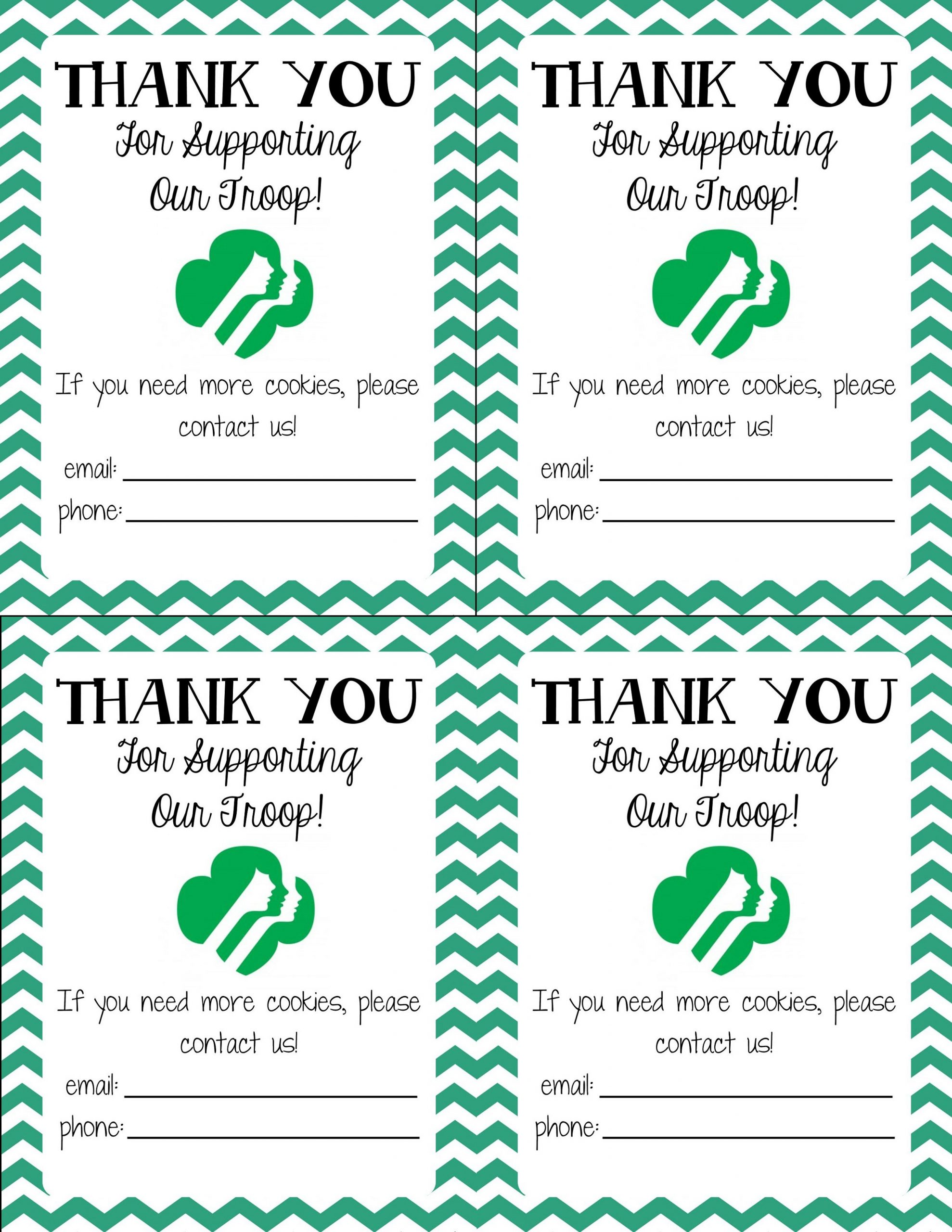 Thank You Note Templates for Girl